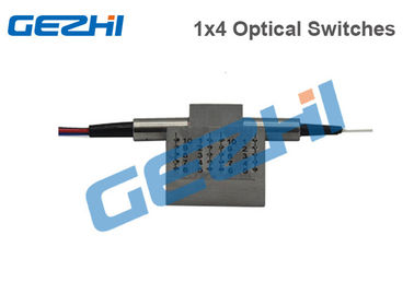 Cina Mechanical Optical Switches Mode Tunggal / Multimode 1 × 4 Konektor Khusus pemasok