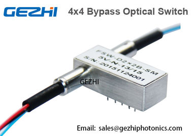 Ganda 2x2B Fiber Optik Switch Non Blocking 5V 1310 / 1550nm